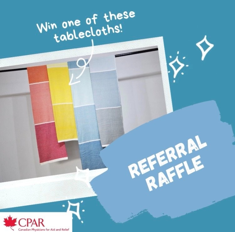 Enter our Referral Raffle to Win a Tablecloth! image